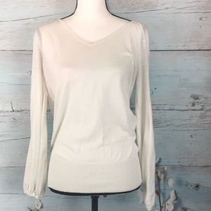 Express white sweater size small